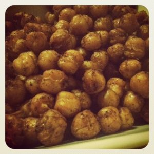 baked chickpeas - yay!