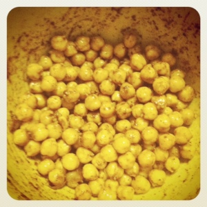 chickpeas: before baking