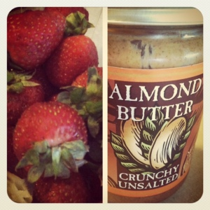 almond butter + strawberries