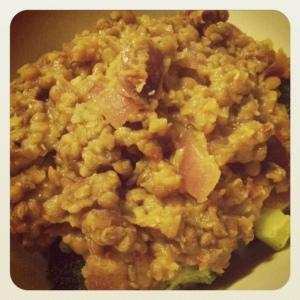 step 2: add lentils