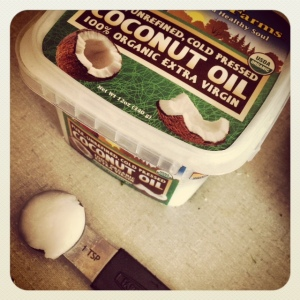 1 tsp of coconut oil is all it takes!