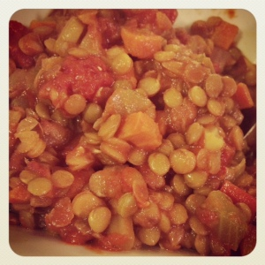 veggies and lentils, oh my!