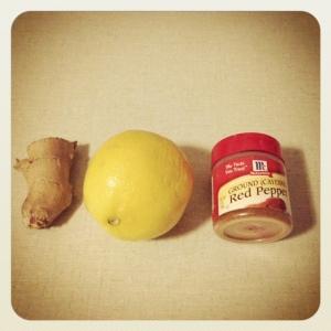 ginger + lemon + cayenne